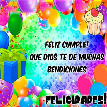 Feliz Cumpleaños Bendiciones Dios