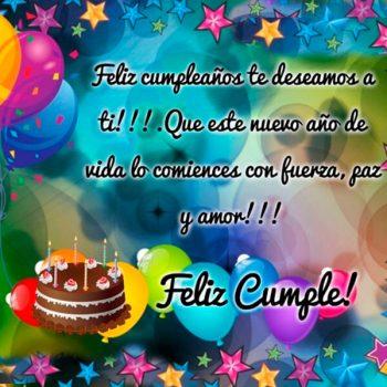 Saludos Cumpleaños Cristianos Paz