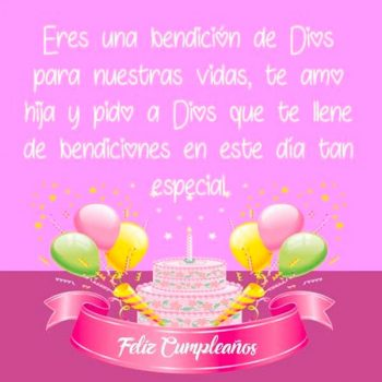 Tarjetas De Cumpleaños Para Una Hija Cristiana Te Amo