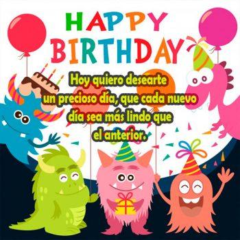 Imagenes Con Mensajes De Feliz Cumpleaños Alegria