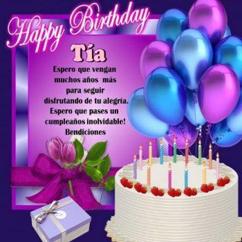 Imagenes De Feliz Cumpleaños Tia Alegria