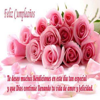 imagenes de feliz cumpleanos con rosas bendiciones