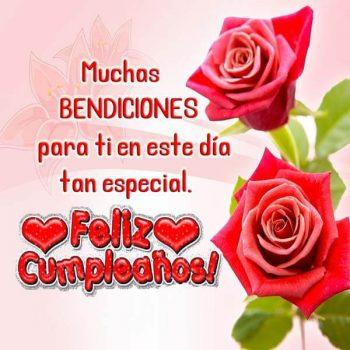 imagenes de feliz cumpleanos con rosas muchas bendiciones