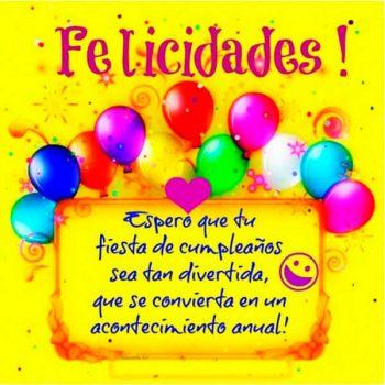 Frases E Imagenes De Feliz Cumpleaños Alegria