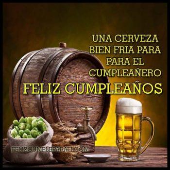 Imagenes De feliz cumpleanos con cerveza cumpleanero
