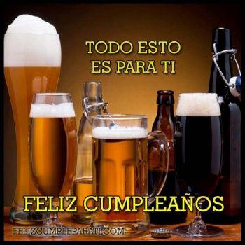 Imagenes De feliz cumpleanos con cerveza todo para ti