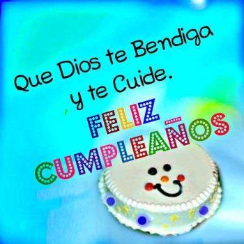 imagenes de feliz cumpleanos que dios te bendiga pastel