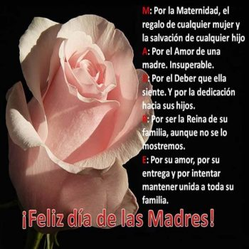 frases para desear un feliz dia de la madre rosas
